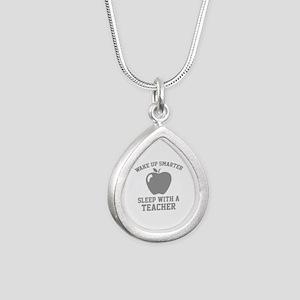 Wake Up Smarter Silver Teardrop Necklace