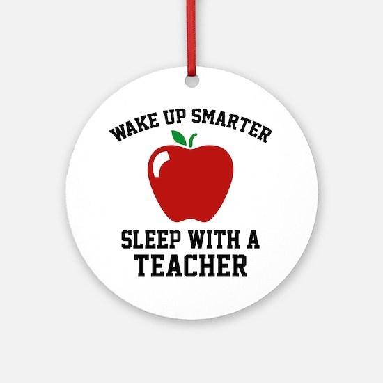 Wake Up Smarter Ornament (Round)