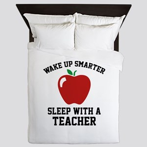 Wake Up Smarter Queen Duvet