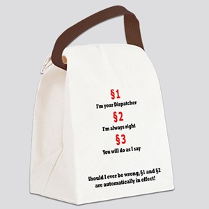 Dispatchers Law Canvas Lunch Bag