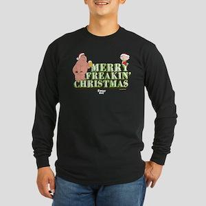 Merry Freakin' Christmas Long Sleeve Dark T-Shirt