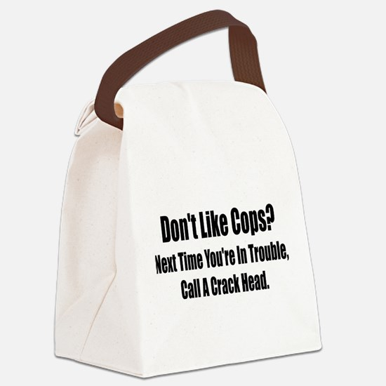 dont like cops light.png Canvas Lunch Bag