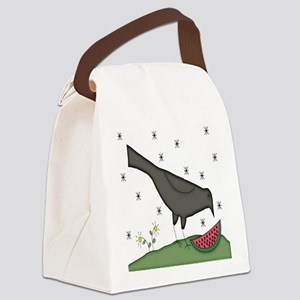Crow And Melon Canvas Lunch Bag