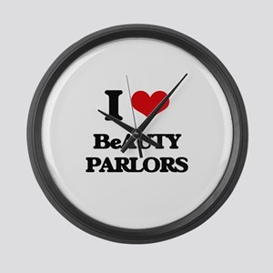 I Love Beauty Parlors Large Wall Clock
