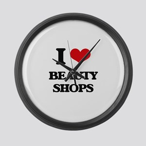 I Love Beauty Shops Large Wall Clock