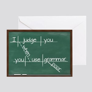 I judge you when you use poor grammar Greeting Car