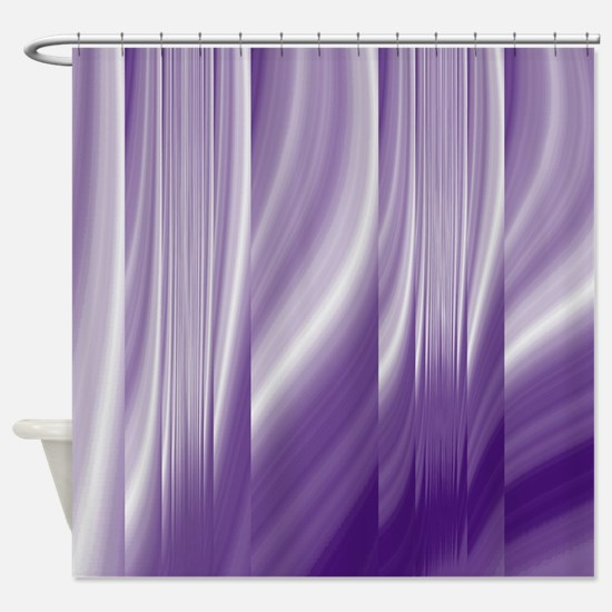 abstract purple grey Shower Curtain