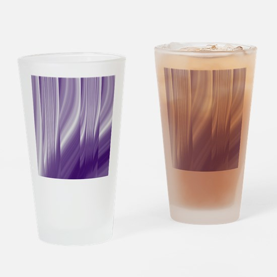abstract purple grey Drinking Glass