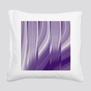 abstract purple grey Square Canvas Pillow