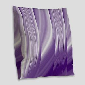 abstract purple grey Burlap Throw Pillow