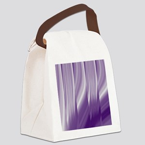 abstract purple grey Canvas Lunch Bag