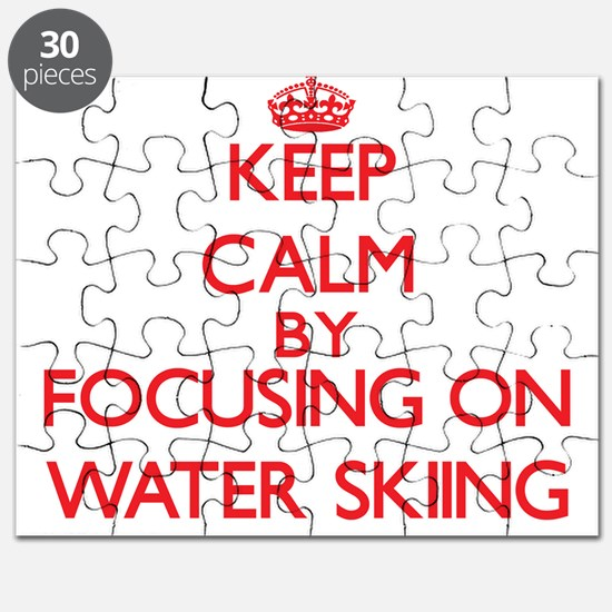 Keep Calm by focusing on Water Skiing Puzzle