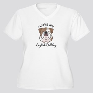 I Love My English Women's Plus Size V-Neck T-Shirt