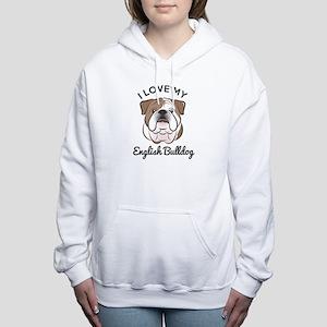I Love My English Bulldo Women's Hooded Sweatshirt