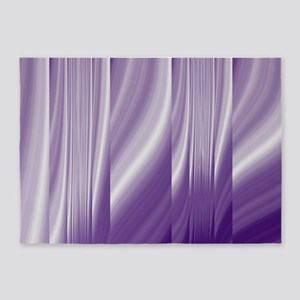 abstract purple grey 5'x7'Area Rug