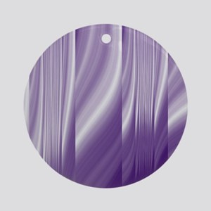 abstract purple grey Ornament (Round)