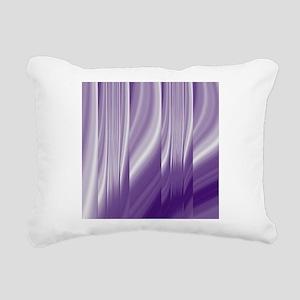 abstract purple grey Rectangular Canvas Pillow