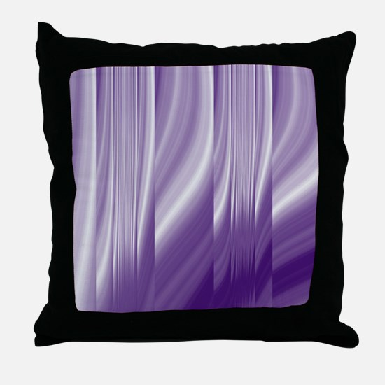 abstract purple grey Throw Pillow