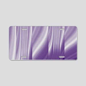 abstract purple grey Aluminum License Plate