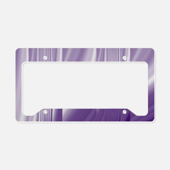 abstract purple grey License Plate Holder