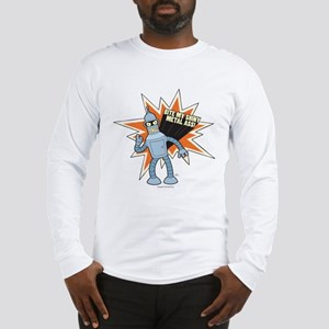 Futurama Bender Shiny Long Sleeve T-Shirt