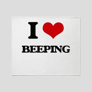 I Love Beeping Throw Blanket