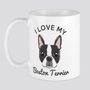 I Love My Boston Terrier Mug Mugs