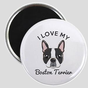 """I Love My Boston Terrier 2.25"""" Magnet (10 pack)"""