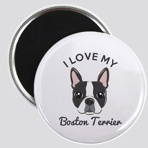 b1a5410c47 My Sister Is A Boston Terrier Magnets - CafePress