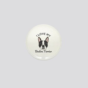 I Love My Boston Terrier Mini Button (10 pack)