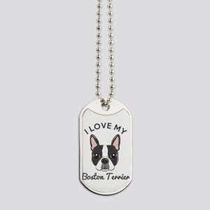 I Love My Boston Terrier Dog Tags
