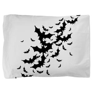 bats-many_bl Pillow Sham