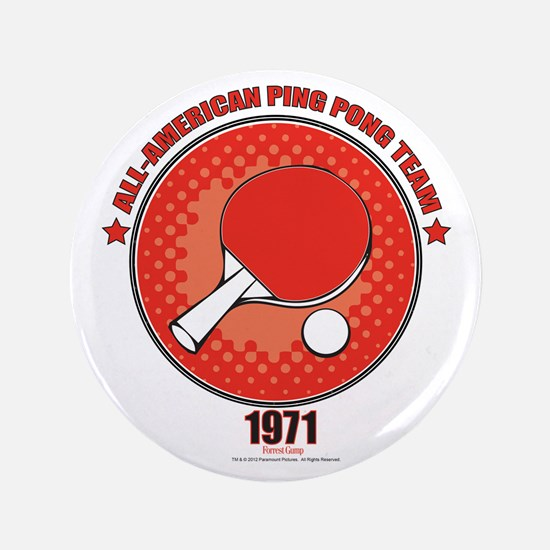 """Forrest Gump Ping Pong 3.5"""" Button"""