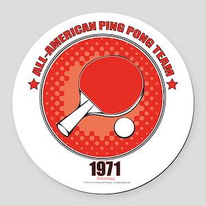 Forrest Gump Ping Pong Round Car Magnet