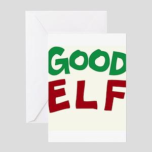 Good Elf Greeting Cards