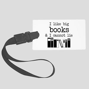 I like Big Books Large Luggage Tag