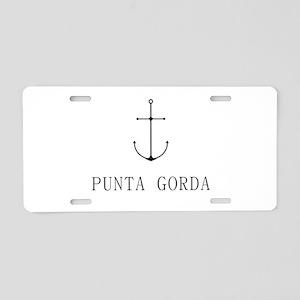 Punta Gorda Sailing Anchor Aluminum License Plate