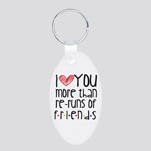 Love You More than Friends Keychains