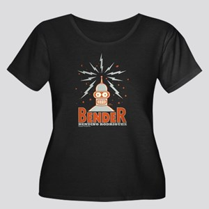 Futurama Women's Plus Size Scoop Neck Dark T-Shirt