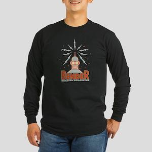 Futurama Bender Rodriguez Long Sleeve Dark T-Shirt
