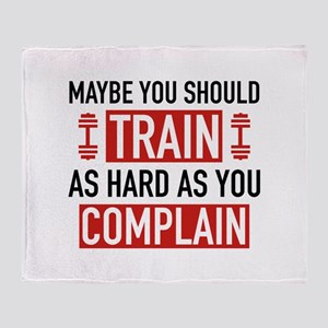 Train As Hard As You Complain Stadium Blanket