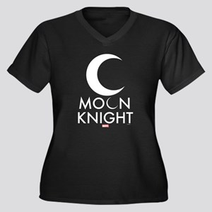 Moon Knight Women's Plus Size V-Neck Dark T-Shirt