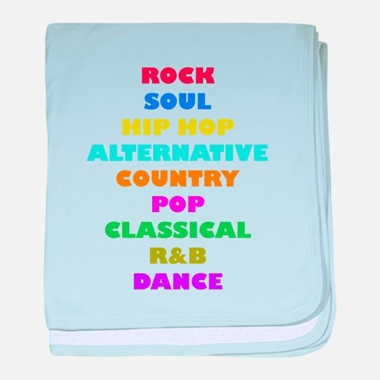 Colorful Music baby blanket
