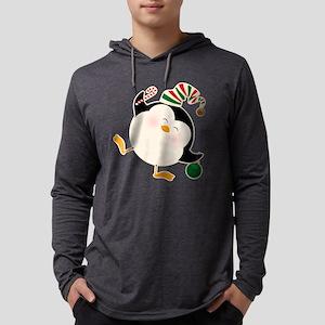 Happy Christmas Penguin Mens Hooded Shirt