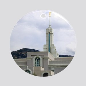 LDS Timpanogos Temple Ornament (Round)