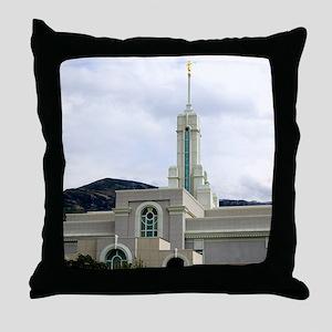 LDS Timpanogos Temple Throw Pillow