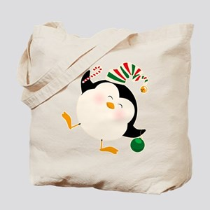 Happy Christmas Penguin Tote Bag