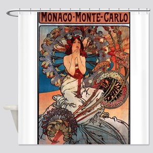 MONACO MONTE CARLO,1897 Shower Curtain
