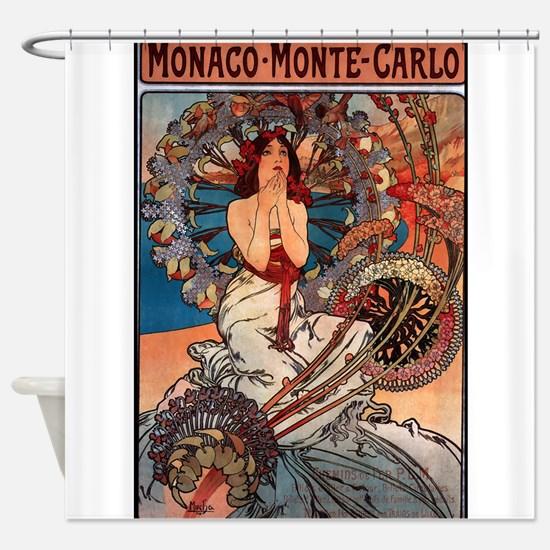 MONACO MONTE CARLO,1897.JPG Shower Curtain