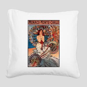 MONACO MONTE CARLO,1897 Square Canvas Pillow